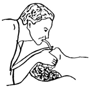 Проведение искусственного дыхания с помощью трубки